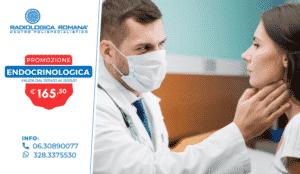 endocrinologo controlla la tiroide al paziente