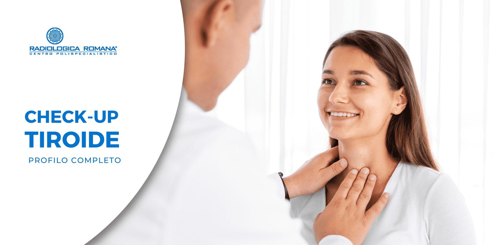 dottore visita la tiroide della paziente